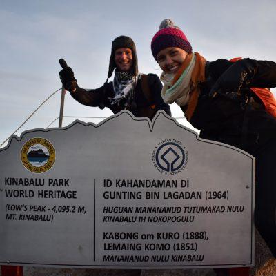 Op de top van Mount Kinabalu