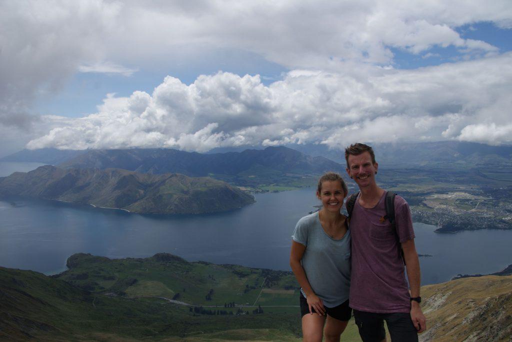 Op de top van Roy's Peak!