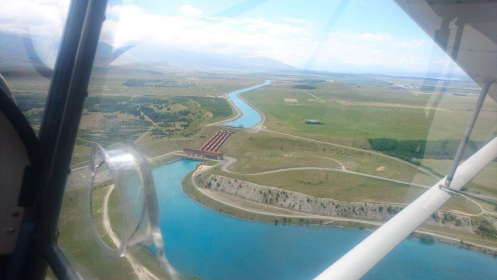 Eén van de uitzichten tijdens de vlucht