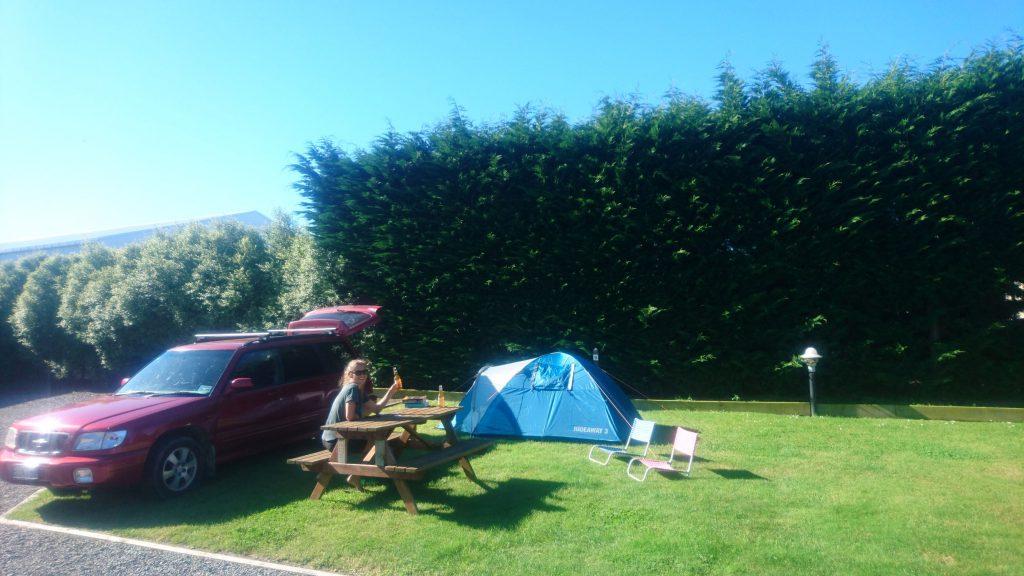Genieten van een Solletje in de zon op de camping